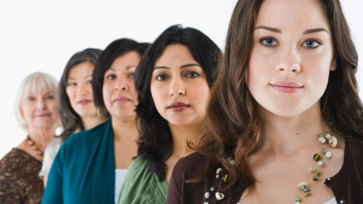 a group of women