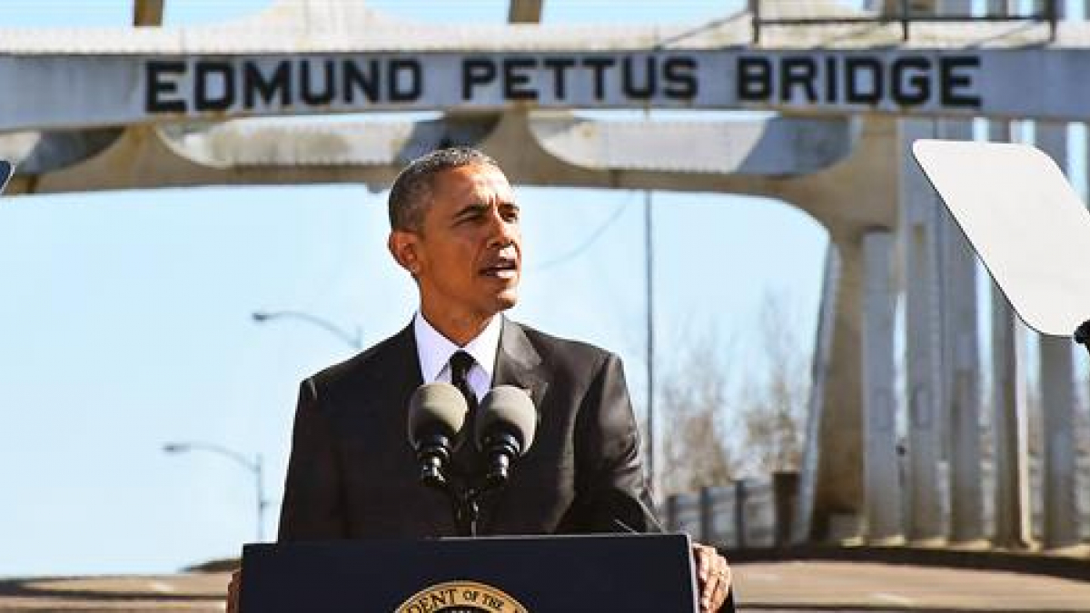 I was proud to hear President Obama speaking at the Edmund Pettus Bridge on the 50th Anniversary of the start of the Selma March