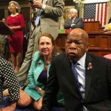Rep. John Lewis, who in 2016 led the House sit-in over a lack of action on gun safety